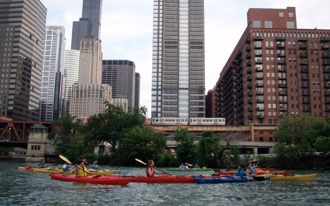 sunset kayak tour chicago