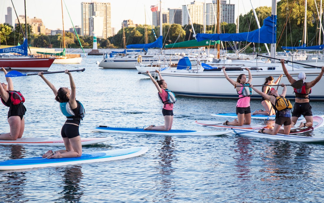 chicago paddleboard yoga classes