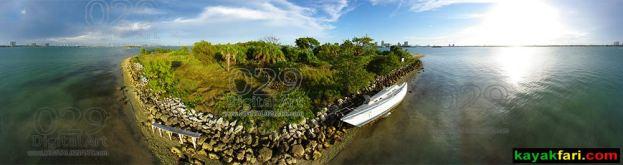 Miami Biscayne Bay Florida kayak kayakfari Flex Maslan 360 degree view island aerial birds eye 029 kayakfari.com digital029art