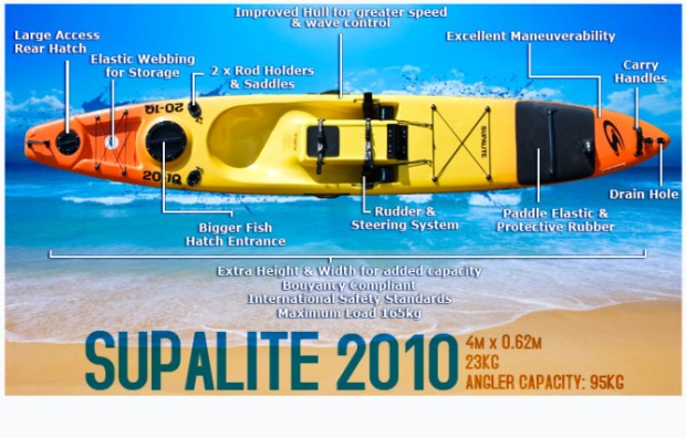 Stealth, Supalite, 2010, Fishing Kayak,