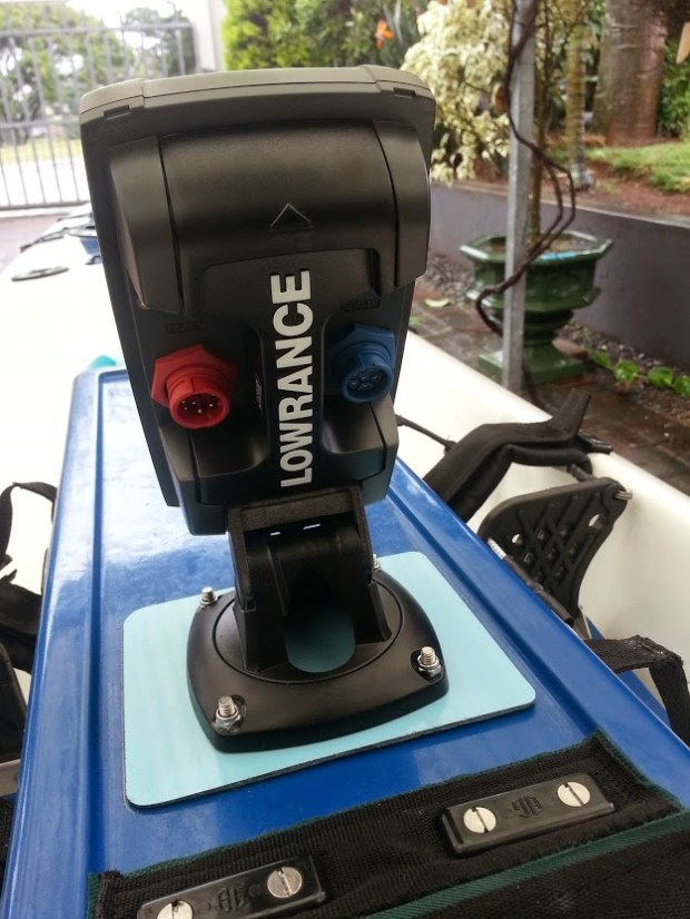 Lowrance, Elite 4, HDI, Rear View,