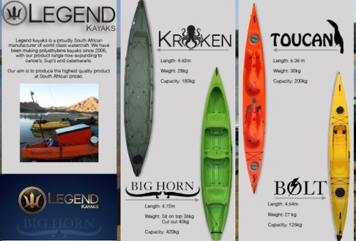 Legend Kayaks Durban