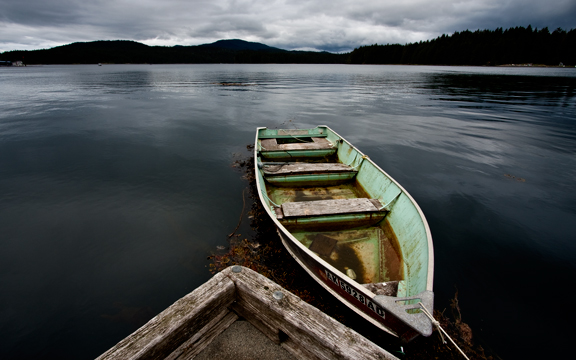 Skiff on the water
