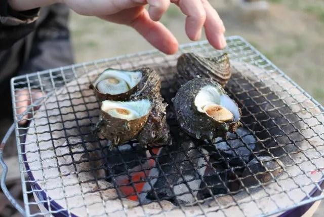 サザエ 海鮮炭焼き