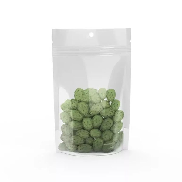 7.0 GRAM BUD BAG – CLEAR & SOLID WHITE - Cannabis Packaging