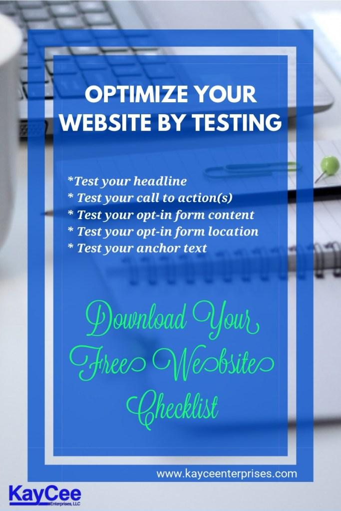 free website checklist