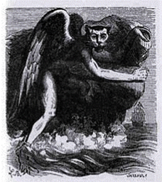 NICKAR - Malignant Scandinavian water monsters who drown people. Odin takes on the name of Nickar when he acts as one of these destroyers, frequenting the lakes & rivers where he causes tempests, hurricanes, & hailstorms.