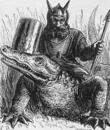 SALLOS - Grand-count of Hell and sweet of character. He appears as a good soldier with a ducal crown on his head and rides a crocodile.