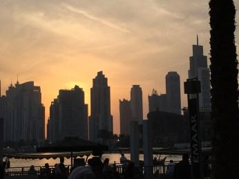 Sunset from Dubai Mall