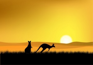 She found the land of Australia to be stunning and red and yellow and haunting.....
