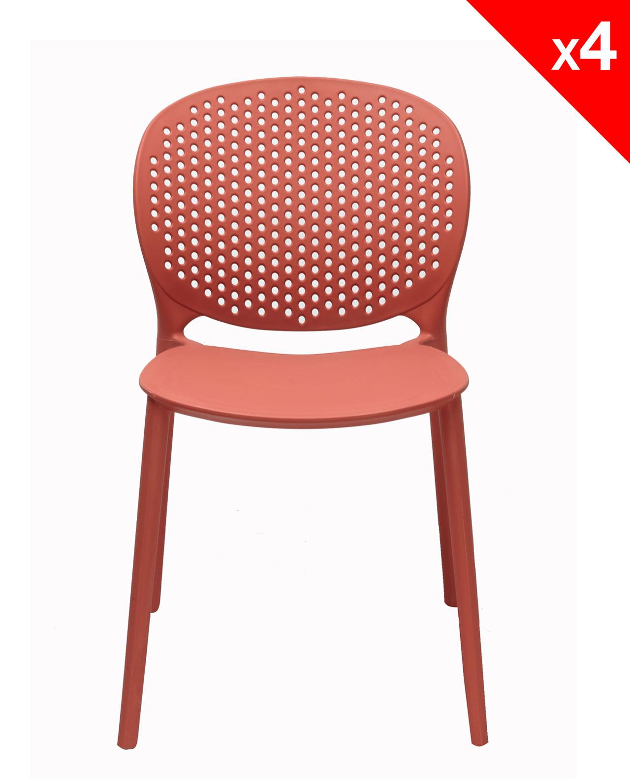 goa lot de 4 chaises moderne interieur exterieur