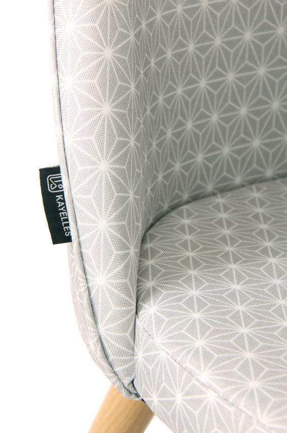 chaises scandinaves cocktail tissu giza