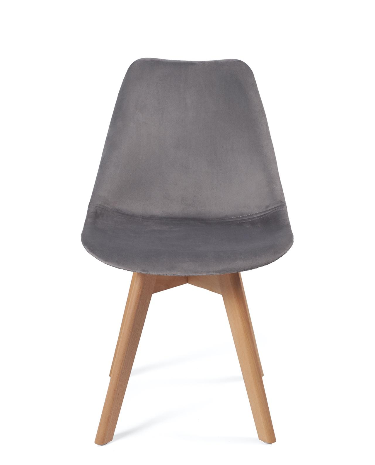 chaise scandinave velours lao lot de 2
