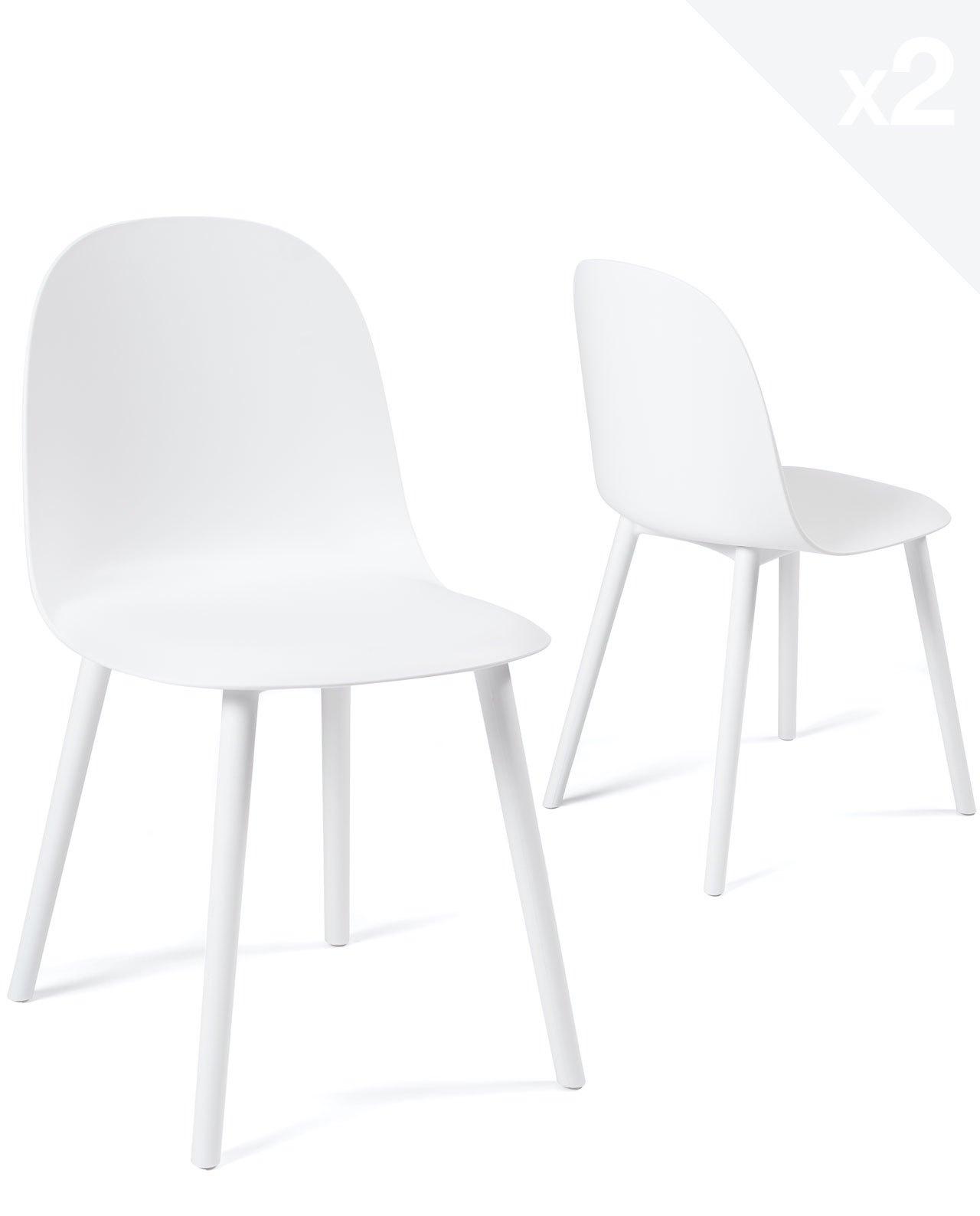 chaise de cuisine interieur exterieur ufi lot de 2
