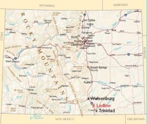 Colorado Map - Ludlow