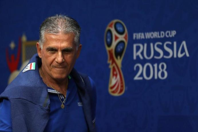 Carlos Queiroz during a press conference .REUTERS.