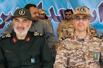 Hossein Salami (L) & Mohammad Bagheri(R). Wikimedia Commons