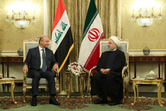 FILE PHOTO: Iran's President Hassan Rouhani meets with Iraq's President Barham Salih in Tehran, Iran, November 17, 2018. Official President website/Handout via REUTERS