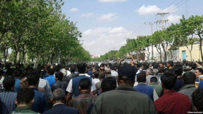 Farmers protesting ... Source: Kayhan london