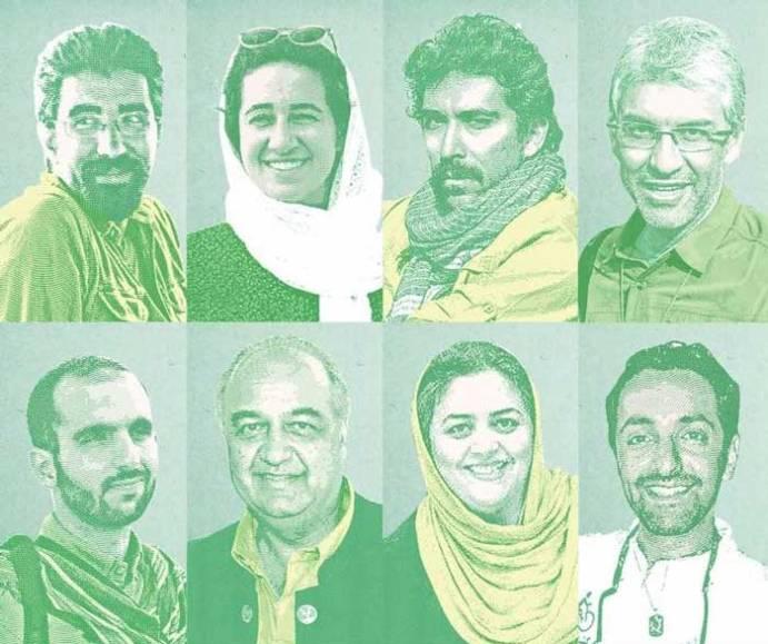 Environmentalist members of the Persian Wildlife Heritage Foundation (PWHF)