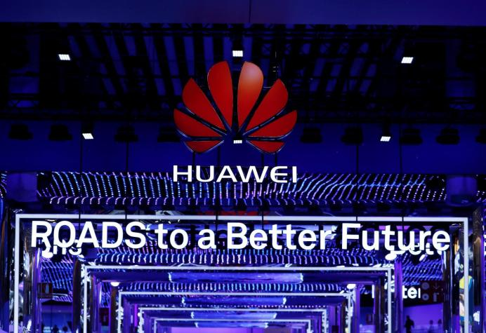 The Huawei stand is seen during the Mobile World Congress in Barcelona, Spain, February 26, 2018. REUTERS