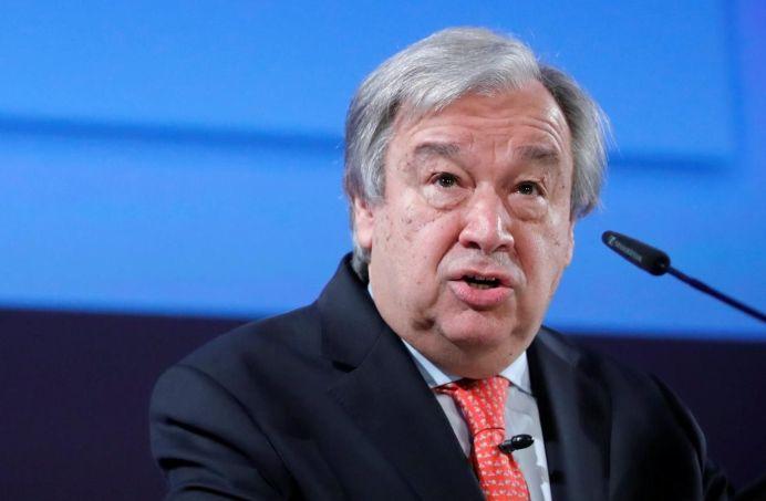United Nations Secretary-General Antonio Guterres. REUTERS/Denis Balibouse