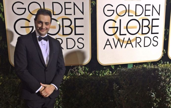 At the Golden Globe Awards.