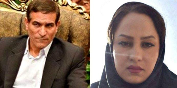 Salman Khodadadi (L) Zahra Navidpour (R)