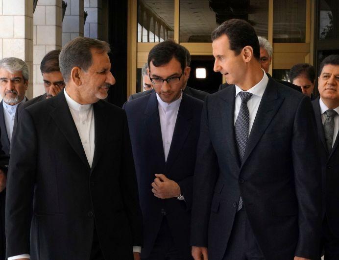 Iranian Vice President Eshaq Jahangiri meets with Syria's President Bashar al-Assad in Damascus, Syria January 29, 2019. Reuters