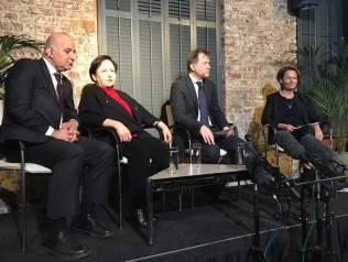 Richard Ratcliffe and Shirin Ebadi at the conference. Source: Kayhan London
