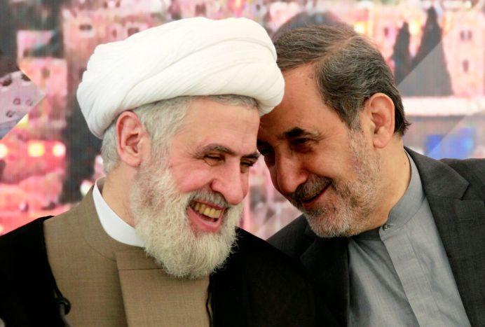 FILE PHOTO: Ali Akbar Velayati (R), Iran's Supreme Leader Ayatollah Ali Khamenei's top advisor on international affairs. REUTERS/Aziz Taher
