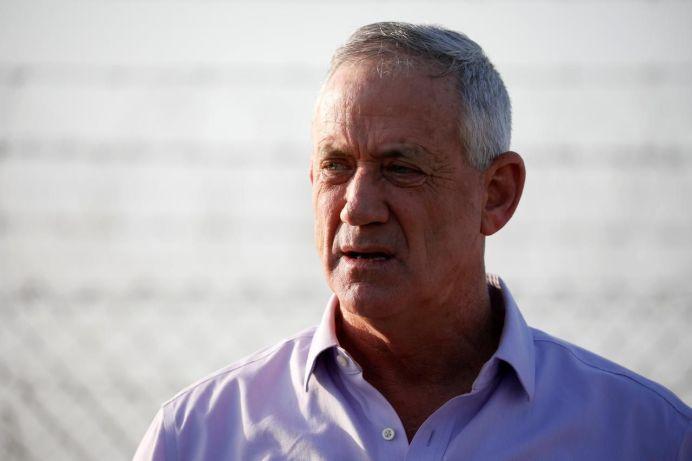 Benny Gantz, head of Blue and White party speaks to the media in Kibbutz Nir-Am, Israel March 15, 2019 REUTERS/Amir Cohen