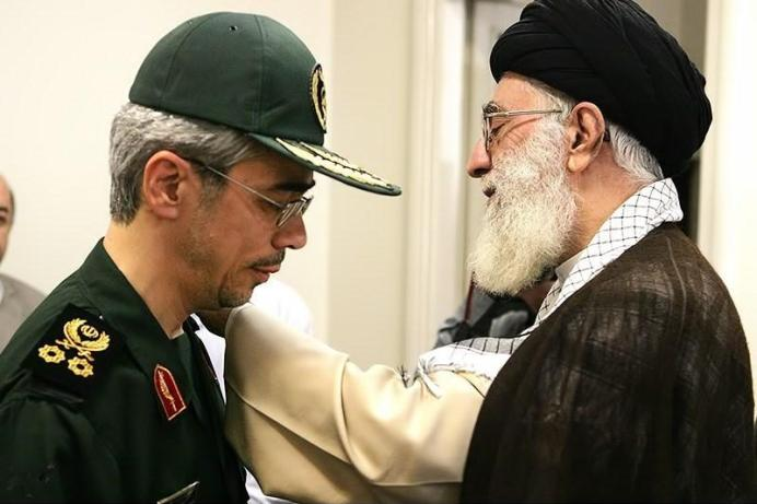 FILE PHOTO: Khamenei (R) Baqeri (L). Source: Tansim. Permission (Reusing this file) All Content by Tasnim News Agency is licensed under a Creative Commons Attribution 4.0 International License.