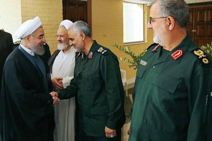 Ghasem Soleimani (R) and Hassan Rouahni (L). Source: Kayhan London