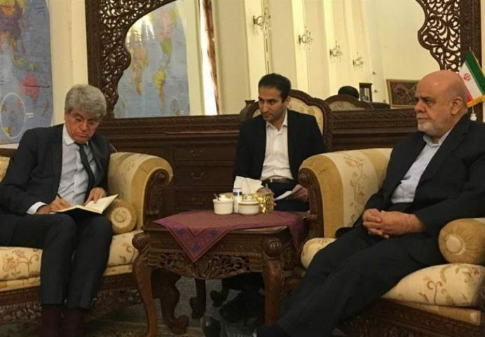 The meeting of Iranian and French ambassadors to Iraq in Baghdad. Source: Kayhan London