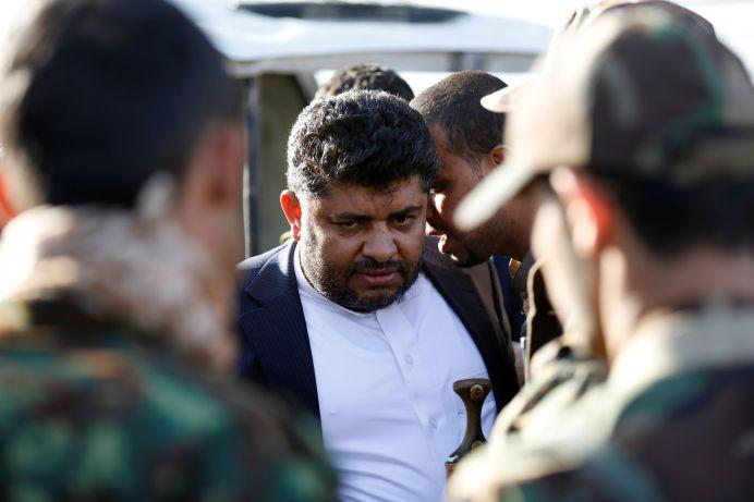 FILE PHOTO: Mohamed Ali al-Houthi (C) in Sanaa, Yemen. REUTERS/Khaled Abdullah