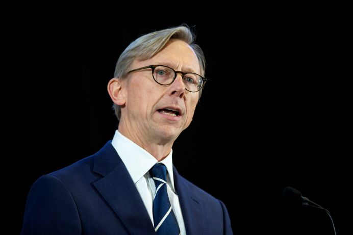 FILE PHOTO: Brian Hook, U.S. Special Representative for Iran. REUTERS./