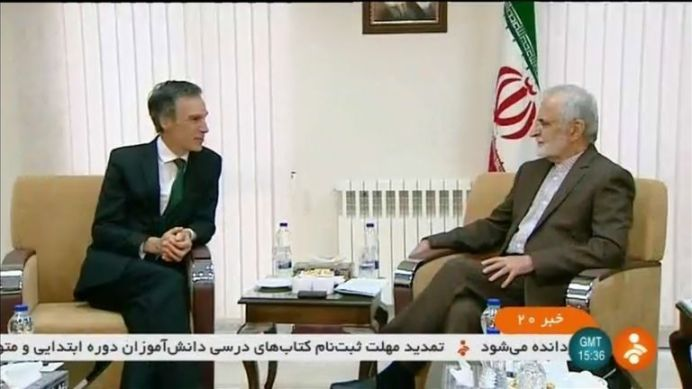 British minister in Iran for talks on tensions with Kamal Kharrazi. REUTERS