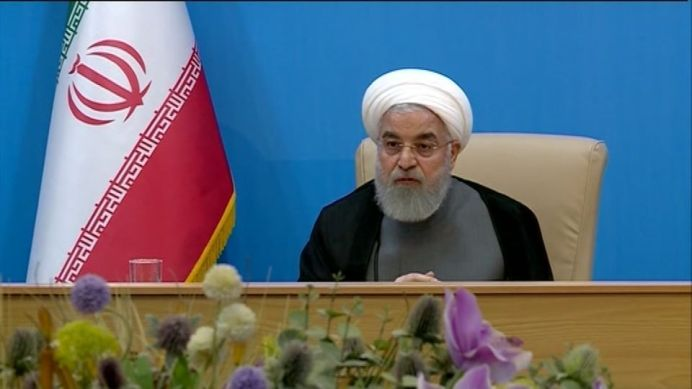 Iranian President Hassan Rouhani says the latest wave of U.S. sanctions to hit his country have closed the door on any hope of diplomacy, just days after the two nations came within minutes of conflict. REUTERS