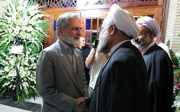 FILE PHOTO: Hassan Rouhni (R) shakes hamd with Kamal Kharazi (L). Source: http://media.farsnews.com/media/Uploaded/Files/Images/1390/07/13/13900713174033_PhotoL.jpg Author: Mohammad Hassanzadeh. This file is licensed under the Creative Commons Attribution 4.0 International license.