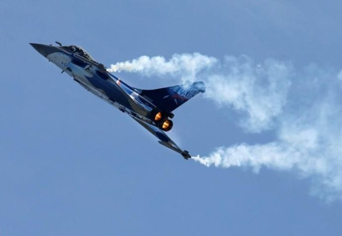 FILE PHOTO - French fighter jet Rafale made by Dassault performs during the Breitling Airshow in Sion, Switzerland . REUTERS