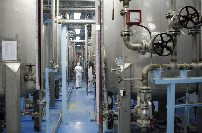 FILE PHOTO: A technician is seen at the uranium conversion facility in Isfahan. REUTERS/Caren Firouz