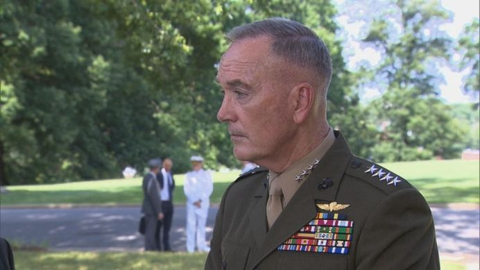FILE PHOTO: Marine General Joseph Dunford, Chairman of the Joint Chiefs of Staff. REUTERS./