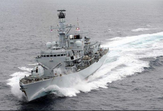 FILE PHOTO: Royal Navy Type 23 frigate HMS Montrose. REUTERS./