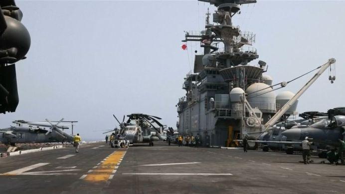 """""""USS Boxer"""" . REUTERS./"""