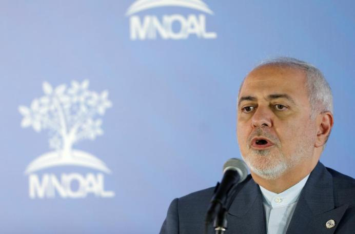 FILE PHOTO: Iran's Foreign Minister Mohammad Javad Zarif talks to the media during the Ministerial Meeting of the Non-Aligned Movement (NAM) Coordinating Bureau in Caracas, Venezuela July 20, 2019. REUTERS/Manaure Quintero