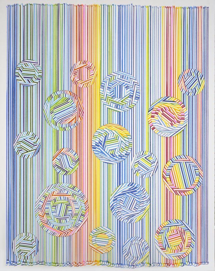 Draw-_-Cut-_-Rotate-5.Hadieh-Shafie.2019.Color-pencil-on-cut-acid-free-mat-board.101.6hx81.28w-cm.-Courtesy-Selma-Feriani-Gallery.-jpg-scaled