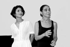 "FILE PHOTO: Dusseldorf, Brunnenstraße.Film presentation ""In Search of Oum Kulthum"" Neda Rahmanian (actress), Shirin Neshat (director). Recording from 2018. Author: Colling-architektur.[This file is licensed under the Creative Commons Attribution-Share Alike 3.0 Unported license. ]"