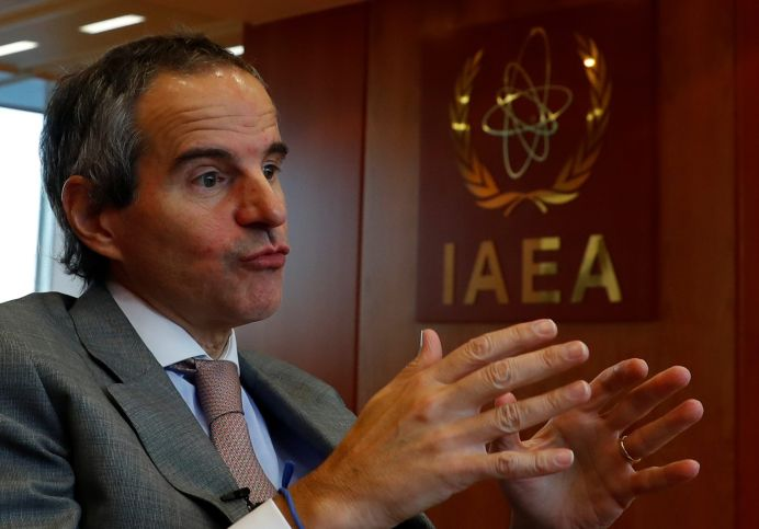 International Atomic Energy Agency (IAEA) Director General Rafael Grossi . REUTERS/Leonhard Foeger