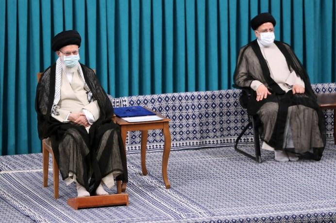 Ali Khamenei attends the inauguration ceremony of Iran's new President Ebrahim Raisi, in Tehran, Iran August 3, 2021. REUTERS./